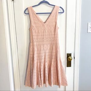Rebecca Taylor pastel pink embroidered dress